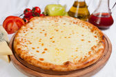 Pizza mozzarella focaccia — Stock Photo