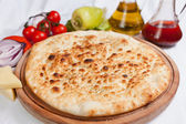 Garlic focaccia pizza — Stock Photo