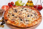 Pizza Marinara with tuna — Stock Photo