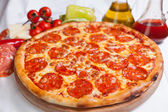 Pizza Diavola Salamy — Stock Photo