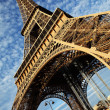 Eiffel Tower in Paris on the winter with the white clouds — Stock Photo