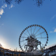 Ferris Wheel from Paris, France - Stock Photo