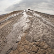 A nice texture from Mud Volcanoes, Romania made with fisheye — Foto de Stock