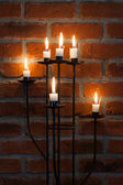 Candles on the wall — Stock Photo