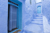 Street in medina of blue town Chefchaouen, Morocco — Stock Photo