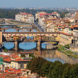 Panoramic view of Ponte Vecchio (Old Bridge), Florence, Italy — Stock Photo