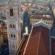 Florence Cathedral, Duomo Tower top view  - Basilica di Santa Ma — Stock Photo