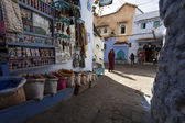 CHEFCHAOUEN, MOROCCO, NOVEMBER 20: person walking on street of t — Stock Photo