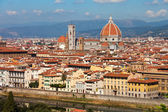 Florence, ITALY, SEPTEMBER 20: rooftop view of Basilica di Santa — Stock Photo