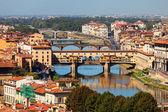 Florence, ITALY, SEPTEMBER 20: rooftop view of Basilica di Santa — Stock Photo