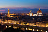 Florence cityscape with Duomo Santa Maria Del Fiore and Piazza D — Stock Photo