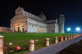 Pisa with the leaning tower in the night — Stock Photo