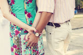 Holding hands couple dating — Stock Photo