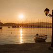 Nydri bay at Lefkada island, Greece on sunrise — Stock Photo
