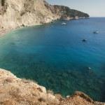 Beautiful Porto Katsiki beach panorama, one of the most famous b — Stock Photo