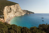 Beautiful Porto Katsiki beach panorama, one of the most famous b — Stock Photo