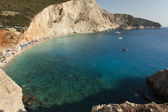 Beautiful Porto Katsiki beach panorama, one of the most famous b — Stockfoto