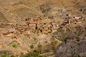 Traditional berber village in Atlas Mountain, Morocco, Africa — Stock Photo