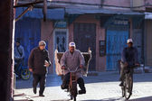 MARRAKECH, MOROCCO - FEBRUARY 28: unknown person biking on stree — Stock Photo