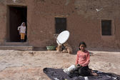 Documentary: Portrait of child muslim (of the nomadic people), M — Stock Photo