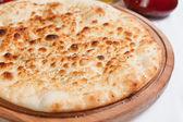 Garlic focaccia pizza — Stock Photo