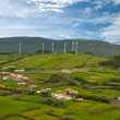 Landscape with wind generators - Stock Photo