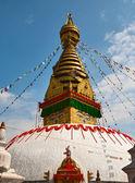 Ancient stupa Swayambhunath in Kathmandu — Stock Photo