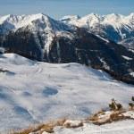 Skifahren in den Alpen — Stockfoto