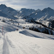 Skiing track in Alps — Stock Photo