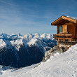 Small house in mountains — Stock Photo
