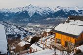 El pueblo alpino — Foto de Stock