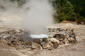 Fumarole thermal springs — Stock Photo
