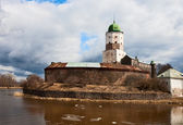 Vyborg Castle in the early spring — Stock Photo