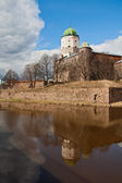 Viborgs slott i en solig vårdag — Stockfoto