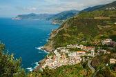 риомаджиоре город на побережье средиземного моря — Стоковое фото
