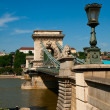 Budapest, chain bridge — Stock Photo #33035767