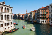Water taxi on the canal in Venice — Stock Photo