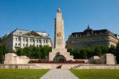 Boedapest, het monument van de sovjet-unie soldaten — Stockfoto