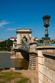 Budapest, chain bridge — Stock Photo
