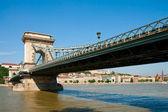 Budapest, Szechenyi Chain Bridge — Stock Photo
