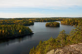 Autumn landscape of southern Finland — Stock Photo