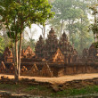 Stock Photo: Khmer temple Banteay Srei