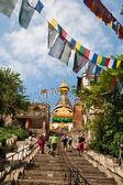Tourists visiting Swayambunath — Photo
