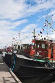 Regatta old motor ship — Foto de Stock