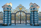 Golden gates of Catherine palace — Stock Photo