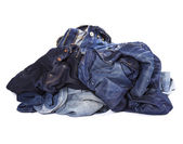 The pile of jeans — Stock Photo