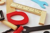Toy wood tools — Stock Photo