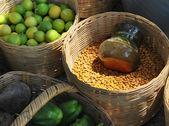 Local market baskets — Stock Photo
