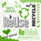 Reuse recycle — Stock Vector