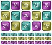 Medicinsk knappar — Stockvektor